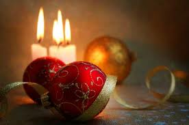 ornaments and candles
