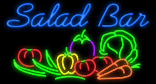 salad bar in neon